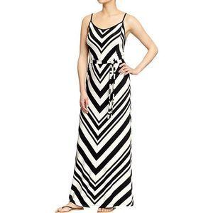 Old Navy Chevron Stripe Maxi Dress XL